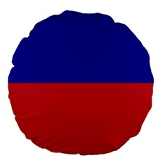 Civil Flag Of Haiti (without Coat Of Arms) Large 18  Premium Flano Round Cushions by abbeyz71