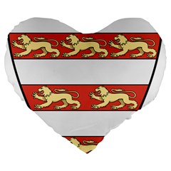 Hungarian Kings (1000 1301) & Seal Of King Emeric (1202) Large 19  Premium Heart Shape Cushions by abbeyz71