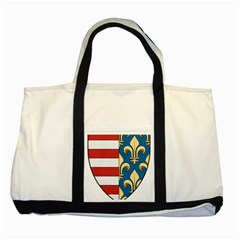 Angevins Dynasty Of Hungary Coat Of Arms Two Tone Tote Bag by abbeyz71