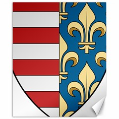 Angevins Dynasty Of Hungary Coat Of Arms Canvas 16  X 20   by abbeyz71