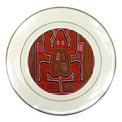 Frog Pattern Porcelain Plates by Onesevenart