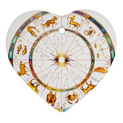 Zodiac Institute Of Vedic Astrology Ornament (heart) by Onesevenart