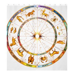 Zodiac Institute Of Vedic Astrology Shower Curtain 66  X 72  (large)  by Onesevenart