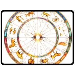 Zodiac Institute Of Vedic Astrology Double Sided Fleece Blanket (large)  by Onesevenart