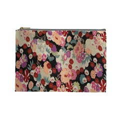 Japanese Ethnic Pattern Cosmetic Bag (large)  by Onesevenart