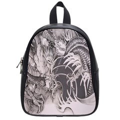 Chinese Dragon Tattoo School Bags (small)  by Onesevenart