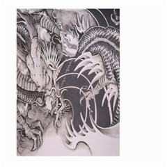 Chinese Dragon Tattoo Large Garden Flag (two Sides) by Onesevenart