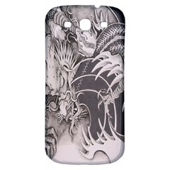 Chinese Dragon Tattoo Samsung Galaxy S3 S Iii Classic Hardshell Back Case by Onesevenart