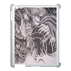 Chinese Dragon Tattoo Apple Ipad 3/4 Case (white) by Onesevenart