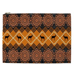 Traditiona  Patterns And African Patterns Cosmetic Bag (xxl)  by Onesevenart