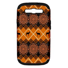Traditiona  Patterns And African Patterns Samsung Galaxy S Iii Hardshell Case (pc+silicone) by Onesevenart