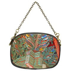 Traditional Korean Painted Paterns Chain Purses (two Sides)  by Onesevenart