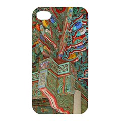Traditional Korean Painted Paterns Apple Iphone 4/4s Premium Hardshell Case by Onesevenart