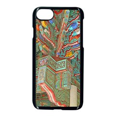 Traditional Korean Painted Paterns Apple Iphone 7 Seamless Case (black) by Onesevenart