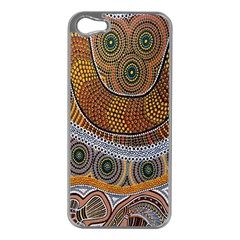 Aboriginal Traditional Pattern Apple Iphone 5 Case (silver) by Onesevenart