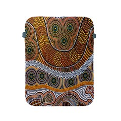 Aboriginal Traditional Pattern Apple Ipad 2/3/4 Protective Soft Cases by Onesevenart