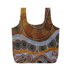 Aboriginal Traditional Pattern Full Print Recycle Bags (m)  by Onesevenart