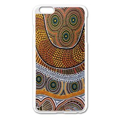 Aboriginal Traditional Pattern Apple Iphone 6 Plus/6s Plus Enamel White Case by Onesevenart