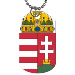 Coat Of Arms Of Hungary Dog Tag (two Sides) by abbeyz71