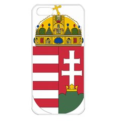 Coat of Arms of Hungary Apple iPhone 5 Seamless Case (White)