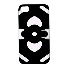 Black And White Pattern Background Apple Iphone 4/4s Hardshell Case With Stand by Nexatart