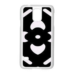Black And White Pattern Background Samsung Galaxy S5 Case (white) by Nexatart