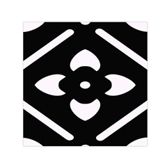 Black And White Pattern Background Small Satin Scarf (square) by Nexatart