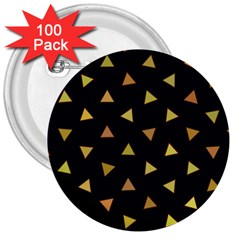Shapes Abstract Triangles Pattern 3  Buttons (100 Pack)  by Nexatart