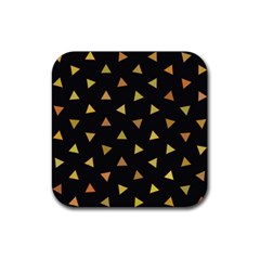 Shapes Abstract Triangles Pattern Rubber Square Coaster (4 Pack)  by Nexatart