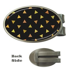Shapes Abstract Triangles Pattern Money Clips (oval)  by Nexatart