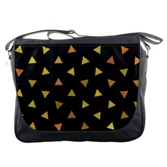 Shapes Abstract Triangles Pattern Messenger Bags