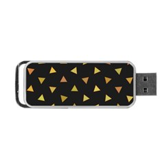 Shapes Abstract Triangles Pattern Portable Usb Flash (two Sides) by Nexatart