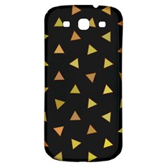 Shapes Abstract Triangles Pattern Samsung Galaxy S3 S Iii Classic Hardshell Back Case by Nexatart