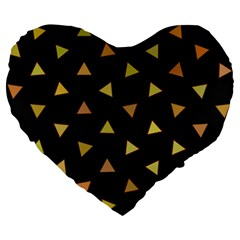 Shapes Abstract Triangles Pattern Large 19  Premium Heart Shape Cushions by Nexatart
