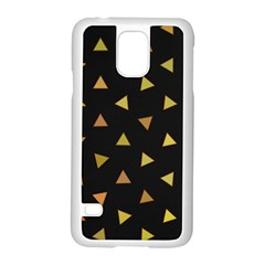 Shapes Abstract Triangles Pattern Samsung Galaxy S5 Case (White)