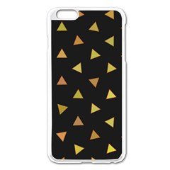Shapes Abstract Triangles Pattern Apple Iphone 6 Plus/6s Plus Enamel White Case by Nexatart