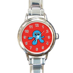 Creature Forms Funny Monster Comic Round Italian Charm Watch by Nexatart