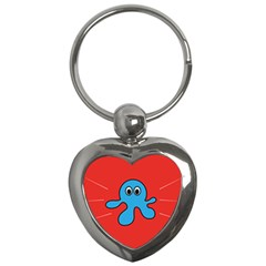 Creature Forms Funny Monster Comic Key Chains (heart)  by Nexatart
