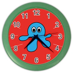 Creature Forms Funny Monster Comic Color Wall Clocks by Nexatart