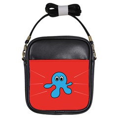Creature Forms Funny Monster Comic Girls Sling Bags by Nexatart