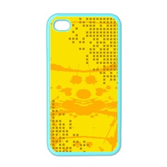 Texture Yellow Abstract Background Apple Iphone 4 Case (color) by Nexatart