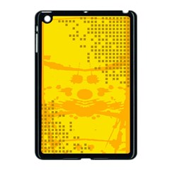 Texture Yellow Abstract Background Apple Ipad Mini Case (black) by Nexatart