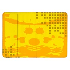 Texture Yellow Abstract Background Samsung Galaxy Tab 8 9  P7300 Flip Case by Nexatart