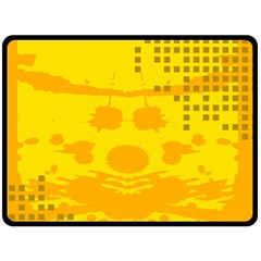 Texture Yellow Abstract Background Double Sided Fleece Blanket (large)  by Nexatart