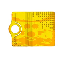 Texture Yellow Abstract Background Kindle Fire Hd (2013) Flip 360 Case by Nexatart