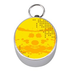 Texture Yellow Abstract Background Mini Silver Compasses by Nexatart