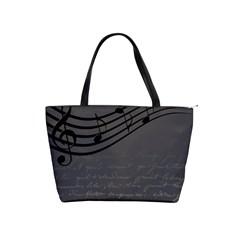 Music Clef Background Texture Shoulder Handbags by Nexatart