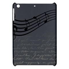 Music Clef Background Texture Apple Ipad Mini Hardshell Case by Nexatart
