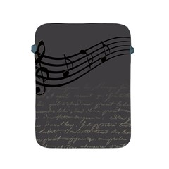 Music Clef Background Texture Apple Ipad 2/3/4 Protective Soft Cases by Nexatart