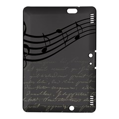 Music Clef Background Texture Kindle Fire Hdx 8 9  Hardshell Case by Nexatart